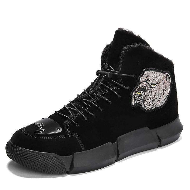 Chaussures Hiver Confortables 2018 Bottines L5 Style Hommes Unie Mode Montantes Nouvelle Simples Noir marron Bottes Décontracté Couleur lc13TFJK