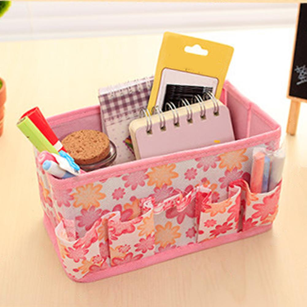 Purse Organizer Bags Makeup-Bag Cosmetic-Storage-Box Travel-Pouch Foldable Women Bright-Toile