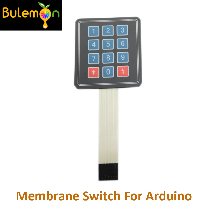 10pcs/lot 3*4 Matrix Keypad Membrane Switch MCU Expansion Keyboard Control Panel For Arduino