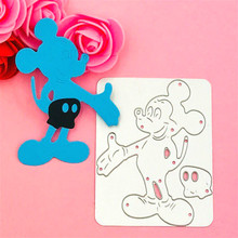 Mickey Bow Cutting Dies Stencils for DIY Scrapbooking/photo album Decorative Embossing DIY Paper Cards 26 love letters metal cutting dies stencils for diy scrapbooking photo album embossing paper cards template decorative supplies