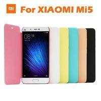 In Stock Original Xiaomi MI5 M5 Protector Case Flip Sabic Matte Leather Cover For Xiaomi MI5