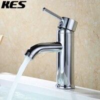 KES Modern Bathroom Sink Faucet Single Handle Wash Basin Faucet Lavatory Tap Lead Free Brass Polished Chrome, L3100ALF