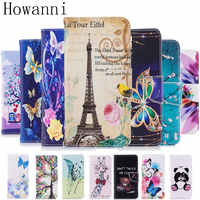 Étui en cuir de luxe Howanni pour Coque LG K8 étui Flip 5.0 pouces 2016 Stand housse de portefeuille pour Fundas LG K8 housse de téléphone Capa