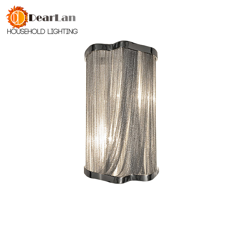 Modern Aluminum Chain Wall Lamps Engineering Design Luxury Chain Tassel Aluminum Chain Wall Lamps Bedside Wall Lights(BK-54) chain hoist double entry stair lamp engineering design luxury chain tassel aluminum chain pendant lamp