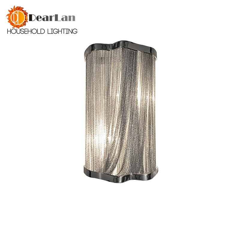 Modern Aluminum Chain Wall Lamps Engineering Design Luxury Chain Tassel Aluminum Chain Wall Lamps Bedside Wall Lights(BK-54) chain hoist double entry stair lamp engineering design luxury chain tassel aluminum chain pendant lamp