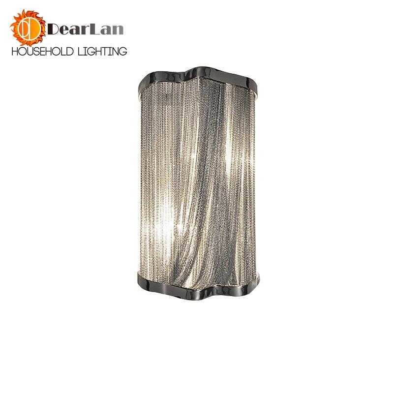 Moderne En Aluminium Chaîne Mur Lampes D'ingénierie Design De Luxe Chaîne Gland Chaîne En Aluminium Mur Lampes De Chevet Appliques Murales (BK-54)