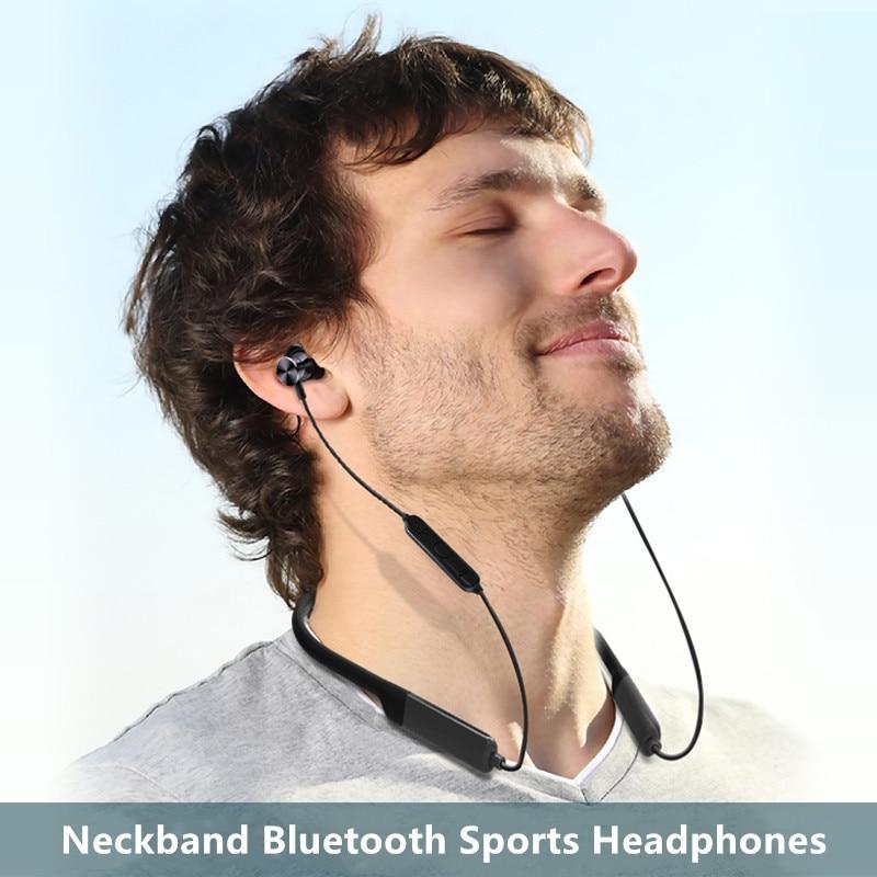 Own BT201 wireless sport Bluetooth headset hang neck waterproof Stereo mic earphone heavy bass large capacity in ear headphone Bluetooth Earphones & Headphones     - title=