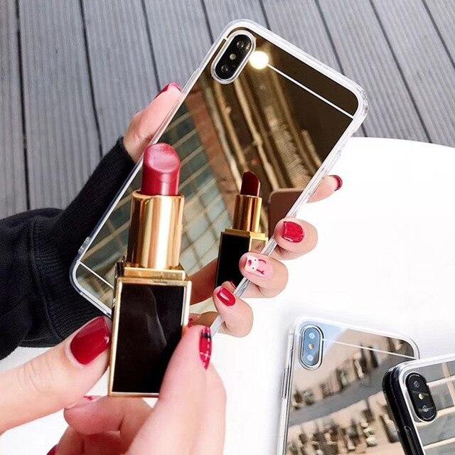 אופנה יוקרה עלה זהב מראה מקרה עבור Xiaomi Redmi הערה 5 הגלובלי 5 בתוספת מקרה Redmi 4X Note5 פרו 6 פרו S2 Y2 Pocophone F1