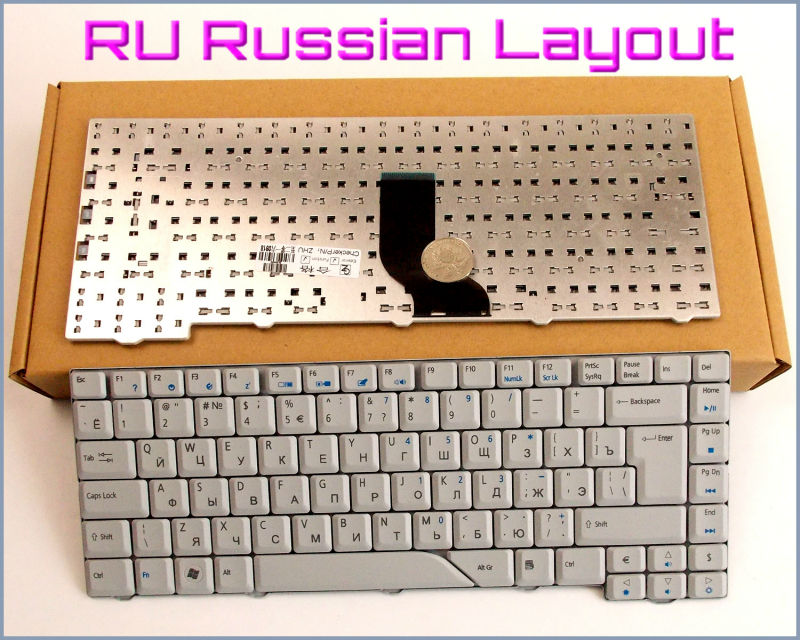 New Keyboard RU Russian Version for <font><b>Acer</b></font> <font><b>Aspire</b></font> 4210 4220 4310 4260 4520 4530 <font><b>4920</b></font> 4710 4720 4730 4937 Laptop Gray image