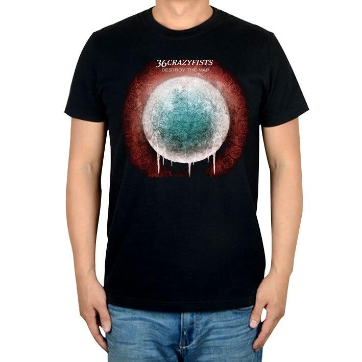10 видов стилей Harajuku милые 36 crazyfists панк-рок белый черный рубашка ММА фитнес хлопок тяжелый металл Футболка с принтом Тис мяч - Цвет: 1