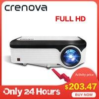 CRENOVA Новые 1920*1080 P проектор для android устройств для 4 k видеопроектор с ОС Android 7,1 Wifi Bluetooth Full HD мультимедийный проектор