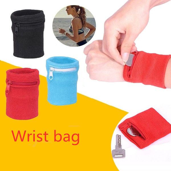 Zipper Wrist bag Running Sports Arm Band Bag Key Card Storage Bag