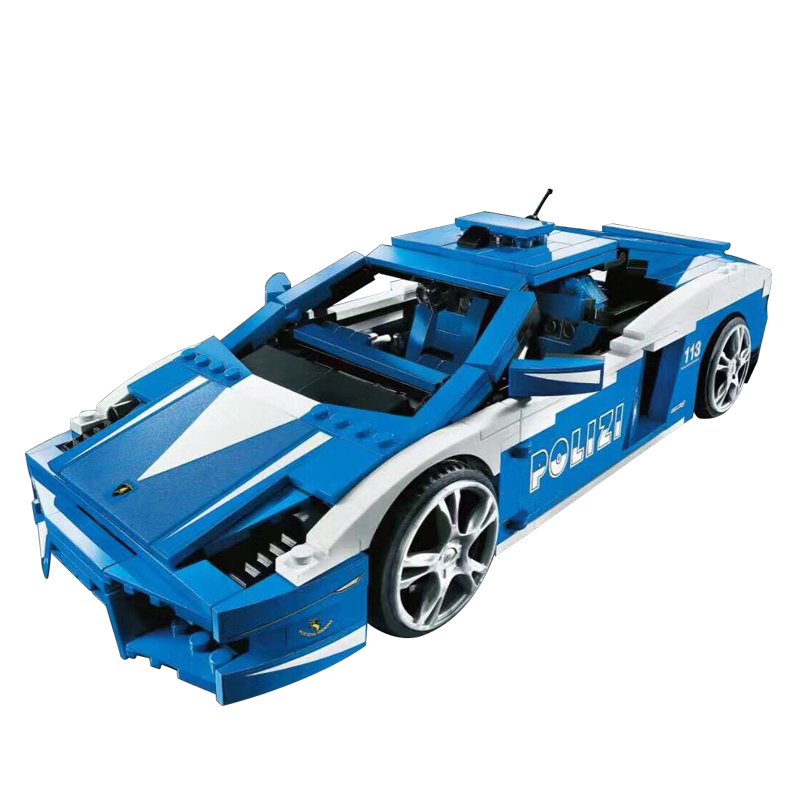 LOZ Two forms Lamborghini Building Blocks No Led Light To Children's Gift Toys Compatible Legoingly technic Car urban forms