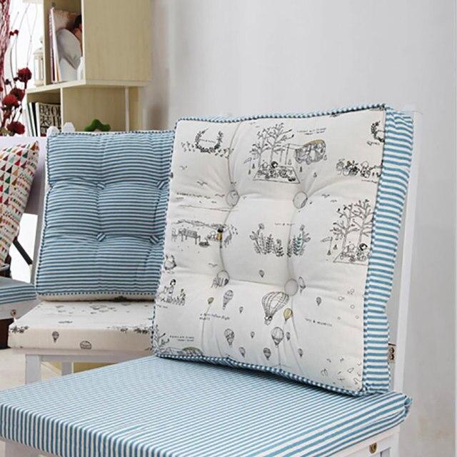 Hot Size Sofa Cushion Seat Cushions For Chairs 48x48x8cm Blue Strip Home Textile