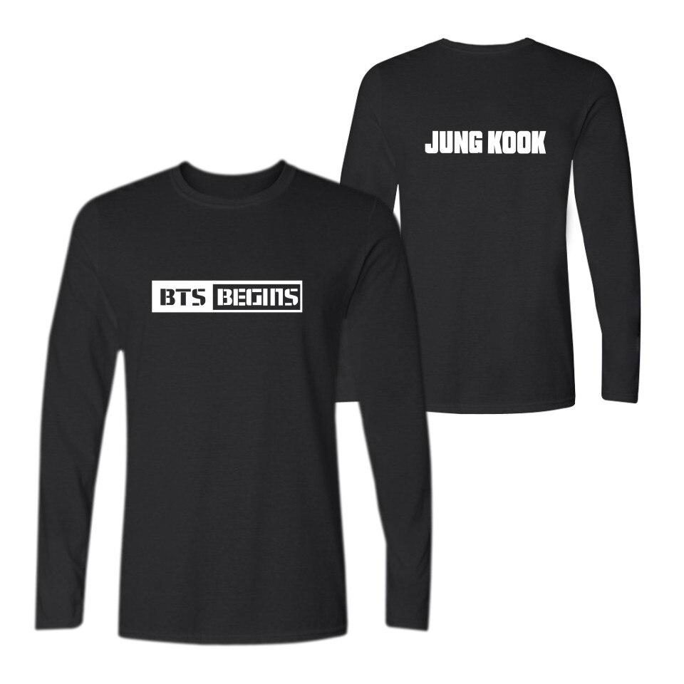 Classic Fashion BTS Begins T font b shirt b font font b Mens b font Tshirt