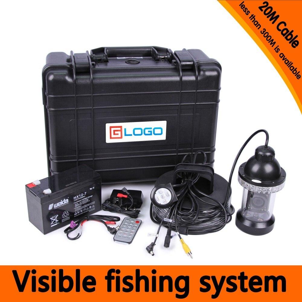 Underwater Camera Kit Pesca com 20 Metros de Profundidade 360 Câmera Rotativa & 7 Polegada Monitor com DVR Embutido & Disco plásticos Caso