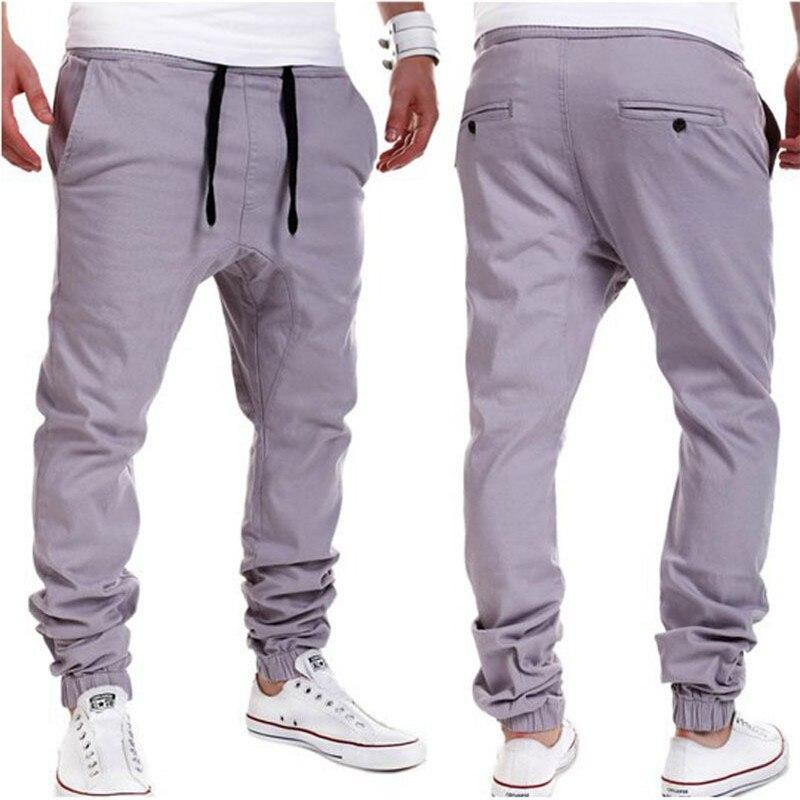 2018 Men Urban Pants Casual Elastic Cotton Mens Fitness Workout Pants  Skinny Sweatpants Trousers Jogger Pants e90e5fc09