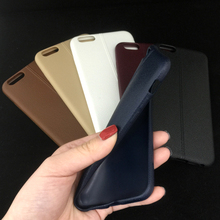 "case For iphone 7 se 5s i6 6s Super Thin Silicone Easy Touch Leather Phone Case Phone 6S 4.7"" Luxury Soft TPU Back Cover"
