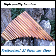 Professional bamboo Pan Flute 22 Pipes Woodwind Flauta xiao Curved Handmade Panpipes Musical Instrument Panflute Irish whistle