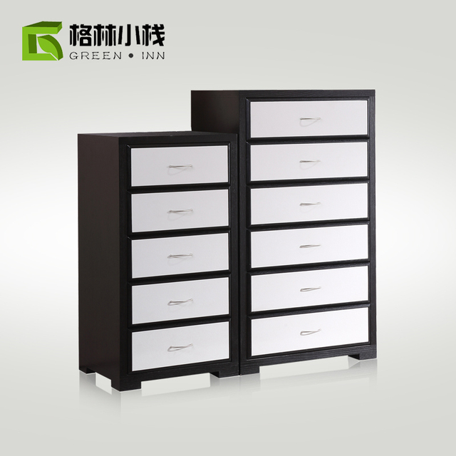Modern Minimalist Wood Chest Of Drawers Chests Six Multi Drawer Storage Cabinet Lockers Living Room