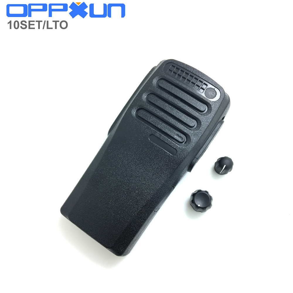 10set Black Color Housing Shell Front Case With Volume And Channel Knobs For Motorola XIR P3688 DP1400 DEP450 Walkie Talkie