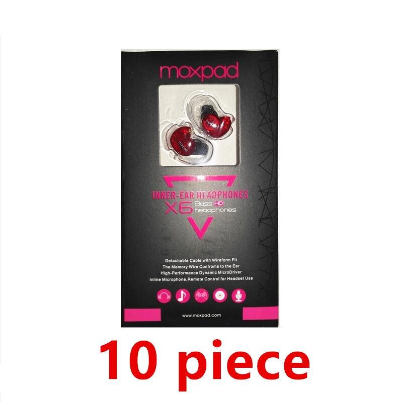 10 pz Moxpad X6 In-Ear sport Auricolari con Microfono per Huawei ZTE di Telefonia Mobile, Telefoni Cellulari, cavo di ricambio + Rumore isolamento auricolare