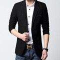 Moda hombre Blazers Traje Negro Brillante Slim Fit Dos Botones de Ropa Masculina Traje Masculino Homme Abrigo Vestido Formal de Gran Tamaño M-6XL