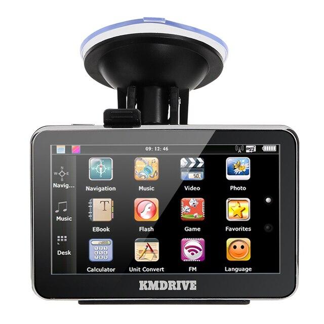 """KMDRIVE 4.3 """"дюймовый TFT-LCD Сенсорный Экран 4 ГБ Автомобильный GPS Навигации Навигатор с Мультимедиа Плеер/FM Радио/TF Слот"""