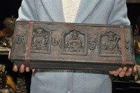 Свадебные украшения тибетская Тантра древняя древесина Xuan бумага молиться буддистские скульптуры Sutra Книга набор