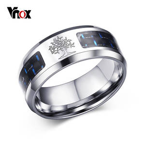 Vnox Ring For Man Stainless Steel Male Alliance Jewelry