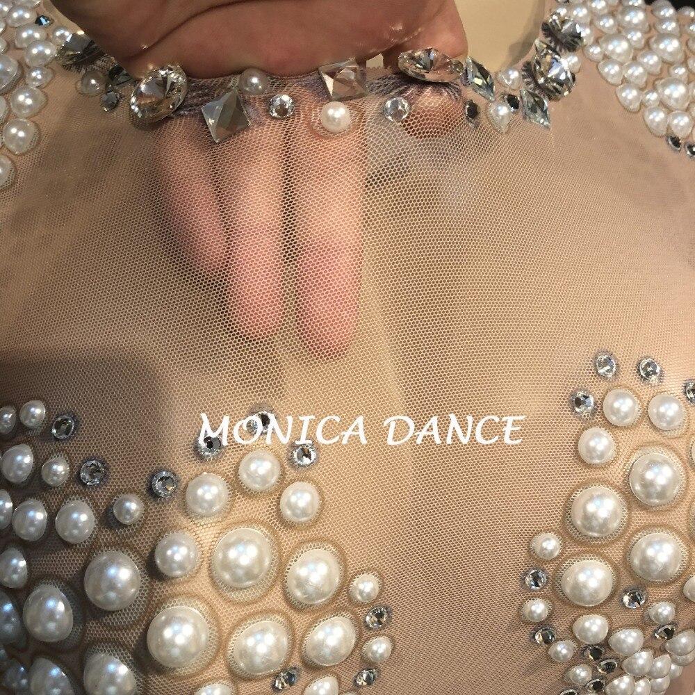 De Body Spectacle Mode Fil Pleine Discothèque Scène Femmes Étincelant Net Jumpsuit Cristal Anniversaire Vêtements Fête Sexy Perle Bling x7qFvwPY