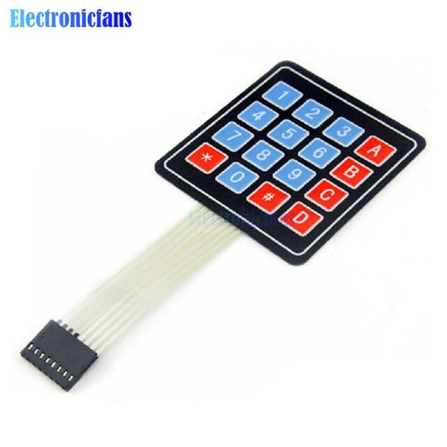 4x4 matrice tableau 16 touches clavier à Membrane commutateur clavier pour Arduino AVR PI C