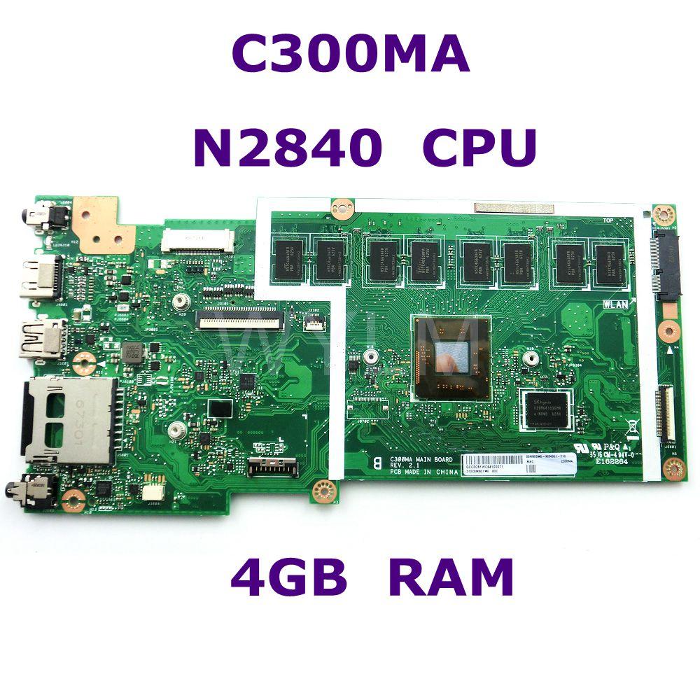 C300MA MB. _ 4G/N2840/AS (WO/LTE) EMMC32G TPM 90NB05W0-R04300 carte mère pour Asus C300M C300MA carte mère d'ordinateur portable 100% testé