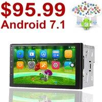 Universal 2 Din Android 6 0 Car DVD Player GPS Wifi Bluetooth Radio Quad Core 7