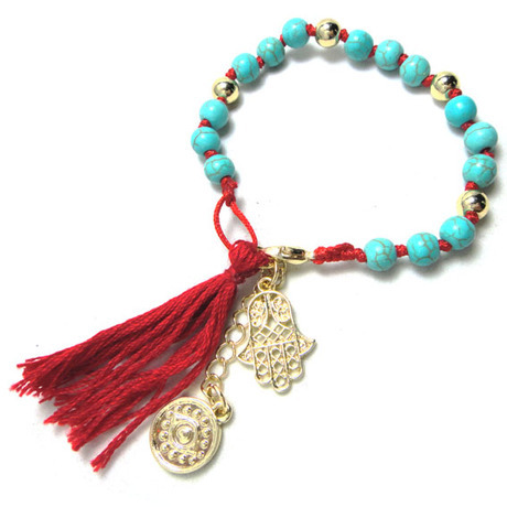 Buy cmajor light green bead bracelet with for Red black and green jewelry