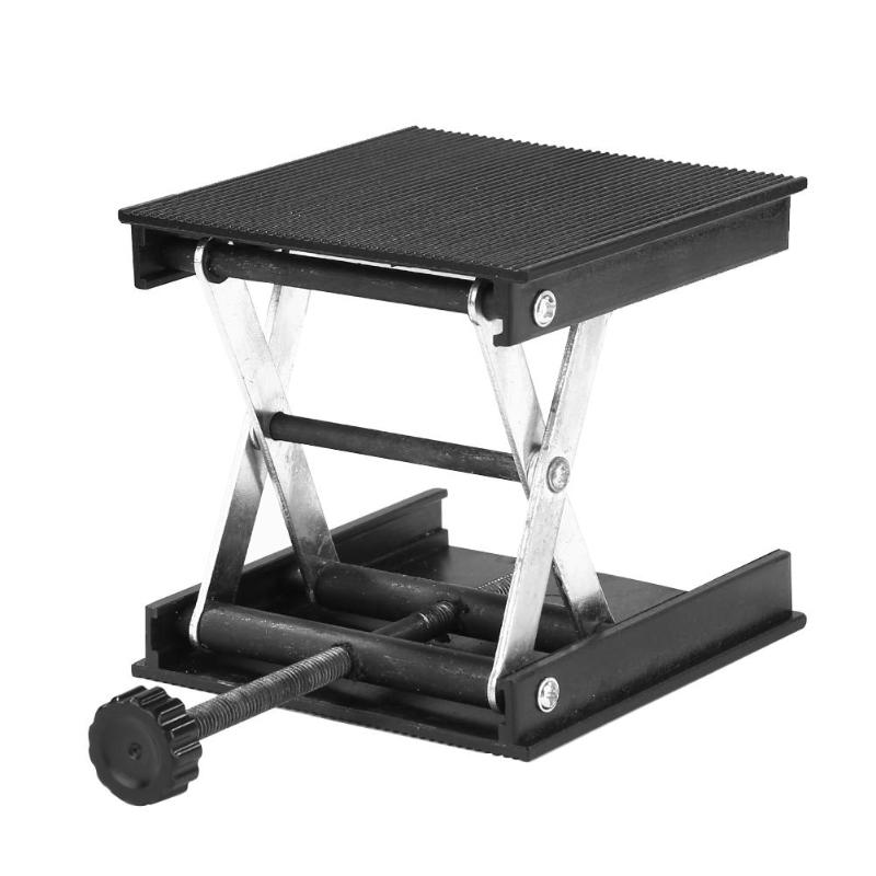 90*90mm Metal Aluminum Router Lift Table Platform Woodworking Engraving Lab Lifting Stand Rack Platform Stand Worktable