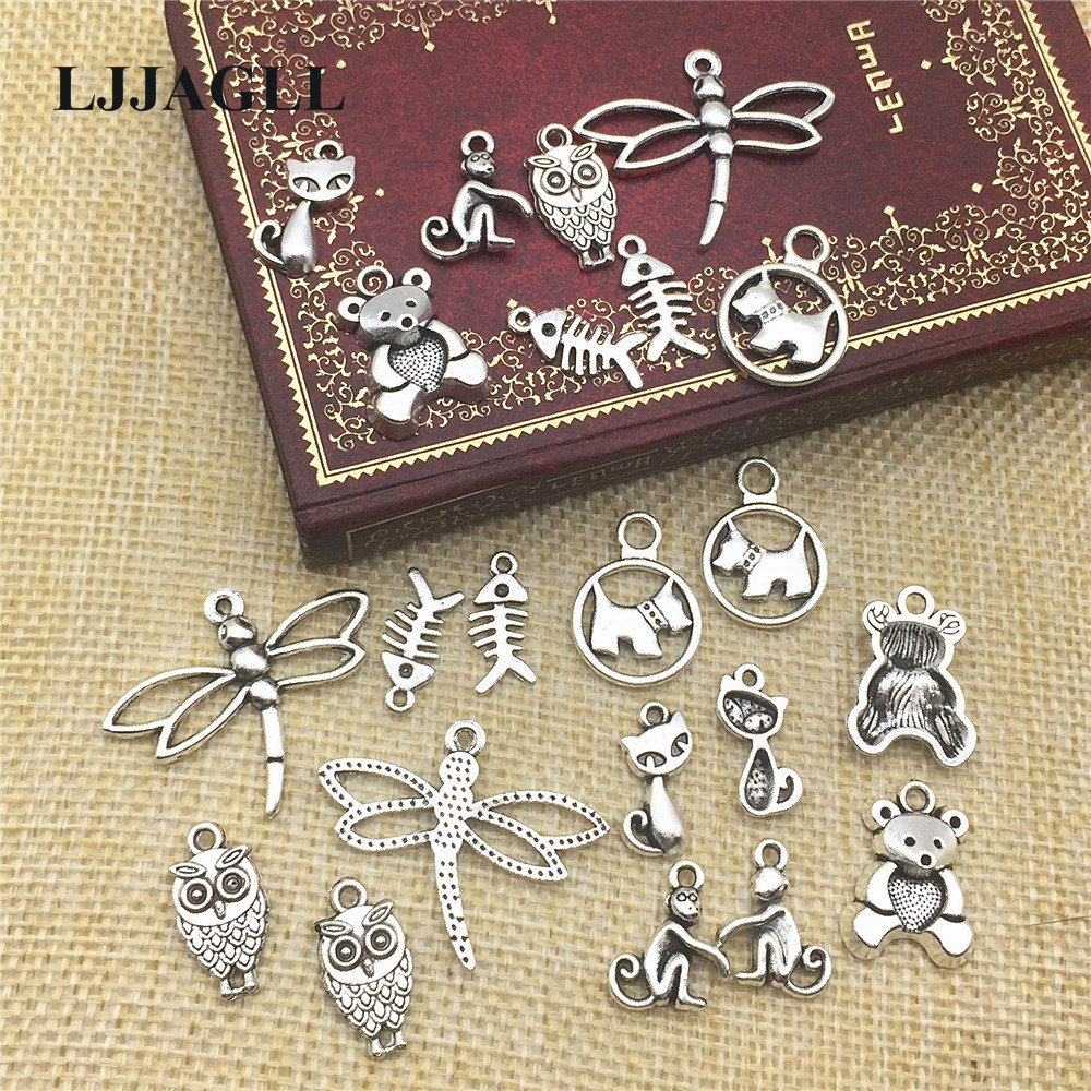 Various pack Qlty Plated Double Side Tibetan Silver /'Just For You/' Star Charms