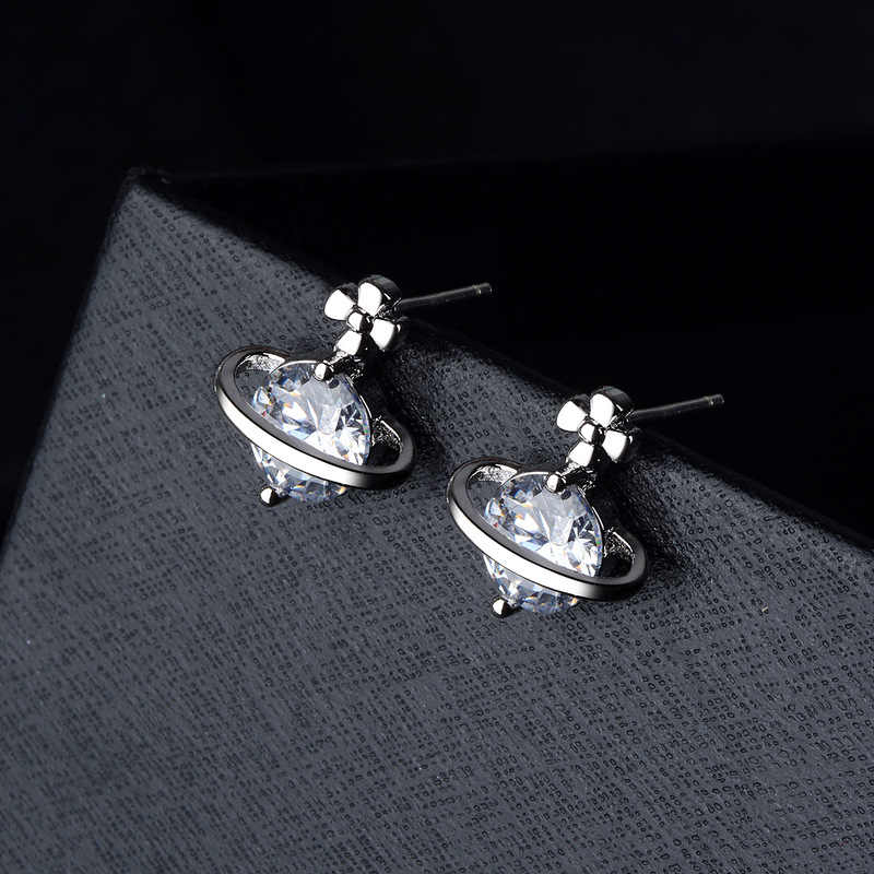 S925 silver earrings,Zircon earrings,Jewelry & Accessories,Fashion Jewelry,Stud Earrings.