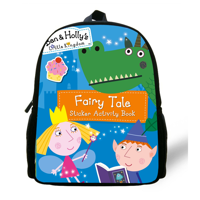 Cartoon Ben And Holly Kingdom Girls Small Backpack Children School Bags  Kindergarten boys Backpack Baby Mini Bags Kids Book Bag bb20ac147a