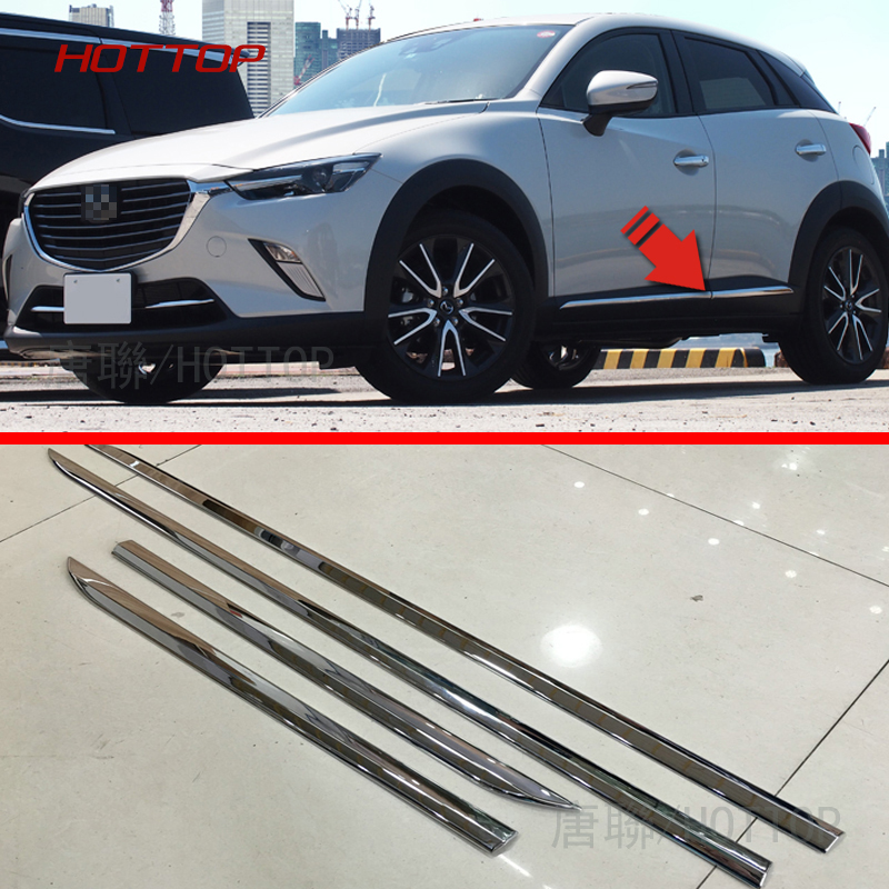 Chrome Molding Door Body Strips For Mazda CX-3 2016 2017 Accessories Trim Covers Car styling show chrome accessories 52 612 saddlebag molding insert