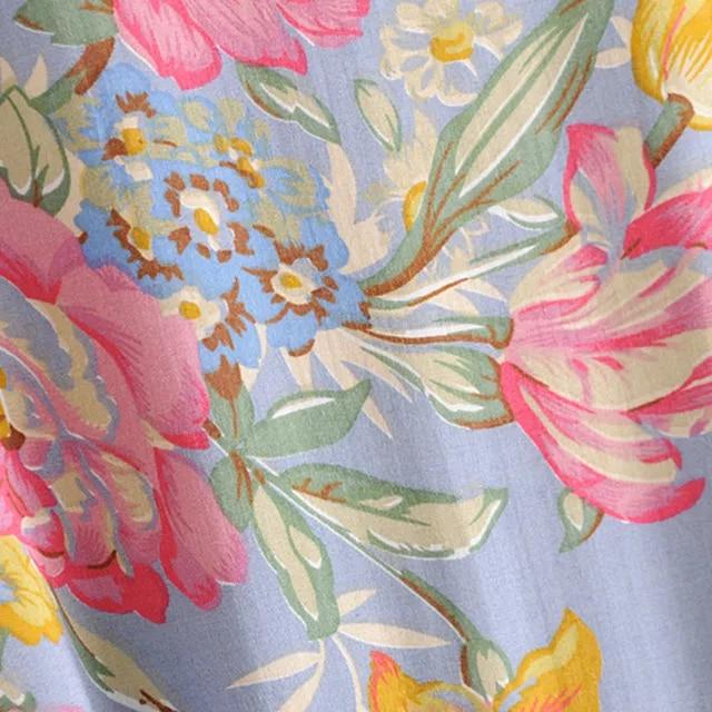 Boho Summer Beach Vintage Floral Print Ruffles Mini Dress Women 2019 Fashion V Neck Short Sleeve Pleated Dresses Femme Vestidos