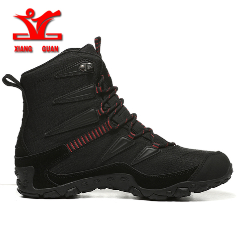 XIANGGUAN Winter Men Hiking Shoes Wool Lining Snow Boots Outdoor Hunting Boots Waterproof Mountaine Shoes Men Climbing Shoes man Lahore