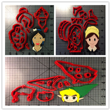 Cartoon TV Character Mulan Pilgrim Girl  Fondant Cupcake Top Made 3D Printed Cookie Cutter Set