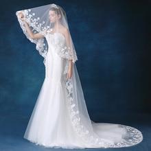 Real 2018 new Bridal Veil White/Ivory 3m Long Wedding Veil Mantilla Wedding Accessories