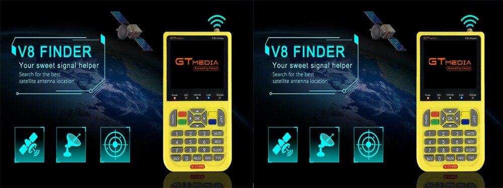 V8 Finder Meter SatFinder Digital Satellite Finder DVB S/S2/S2X HD 1080P  Receptor TV Signal Receiver Sat Decoder Location Finder
