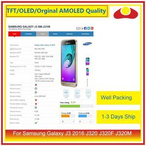 Image 3 - 50 шт./лот DHL для Samsung Galaxy J3 2016 J320F J320M J320 ЖК дисплей с сенсорным экраном дигитайзер панель J320 сборка полная