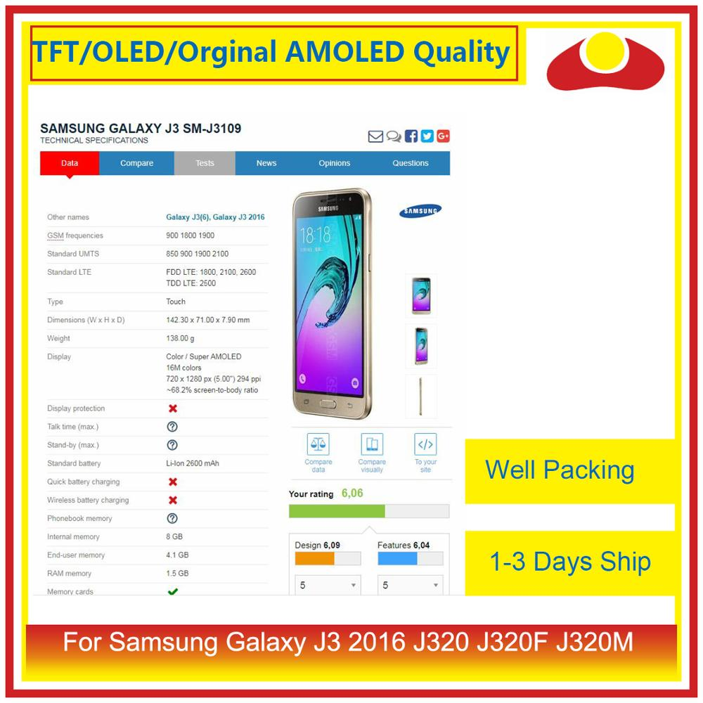 Image 3 - 50Pcs/lot DHL For Samsung Galaxy J3 2016 J320F J320M J320 LCD Display With Touch Screen Digitizer Panel J320 Assembly Complete-in Mobile Phone LCD Screens from Cellphones & Telecommunications