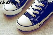 2019 новый весенний детский спортивный парусиновые туфли повседневная обувь для мальчиков и девочек Корейская версия Нескользящие белые туфли