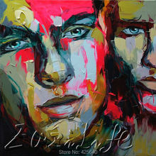 Palette knife painting portrait Palette knife Face Oil painting Impasto figure on canvas Hand painted Francoise Nielly 15