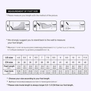 Image 5 - 도나 인 두꺼운 메카 발 뒤꿈치 정품 가죽 여성 부츠 지적 발가락 탄성 가을 겨울 신발 플러시 브라운 블랙 발목 부츠